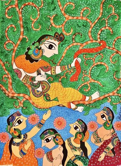 Indian Folk Art -Madhubani Painting