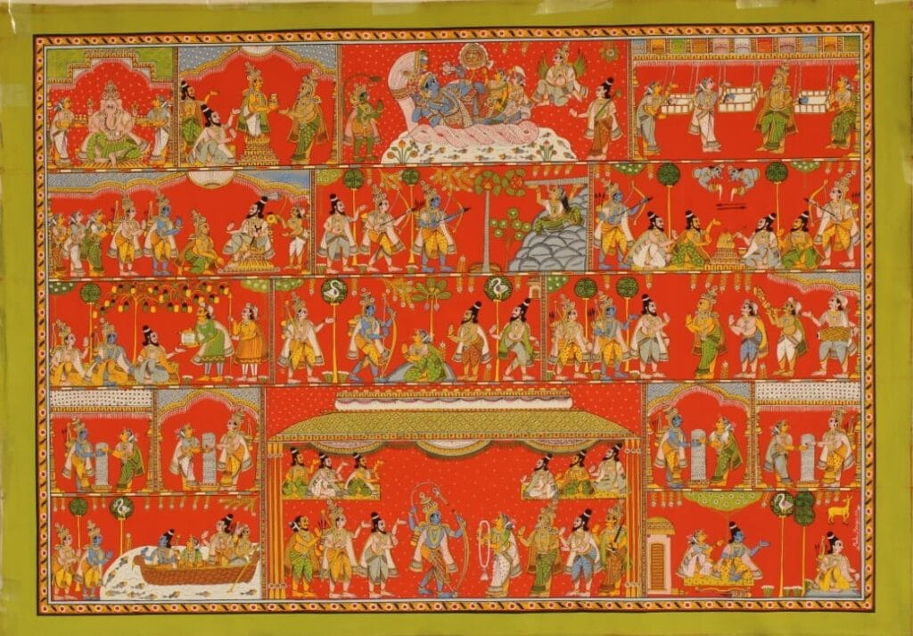 Cheriyal Painting, Artist Madhu Merugoju - International Indian Folk Art Gallery