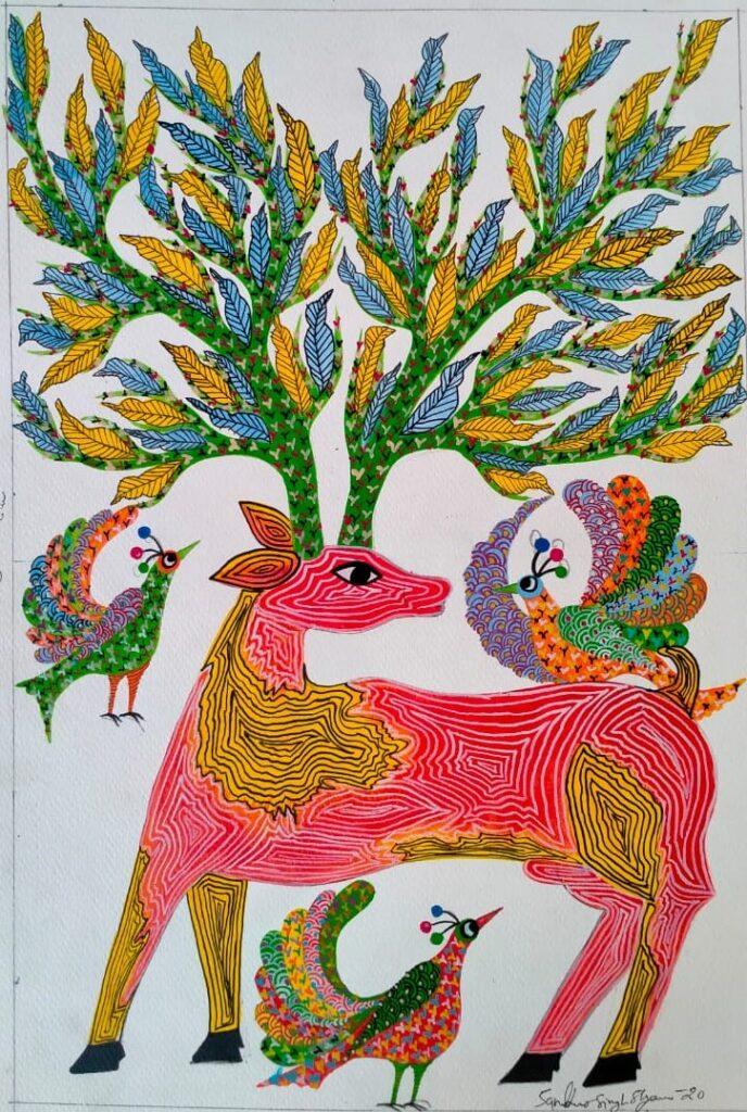 Gond Art - Artist Sambhaw Singh Shyam