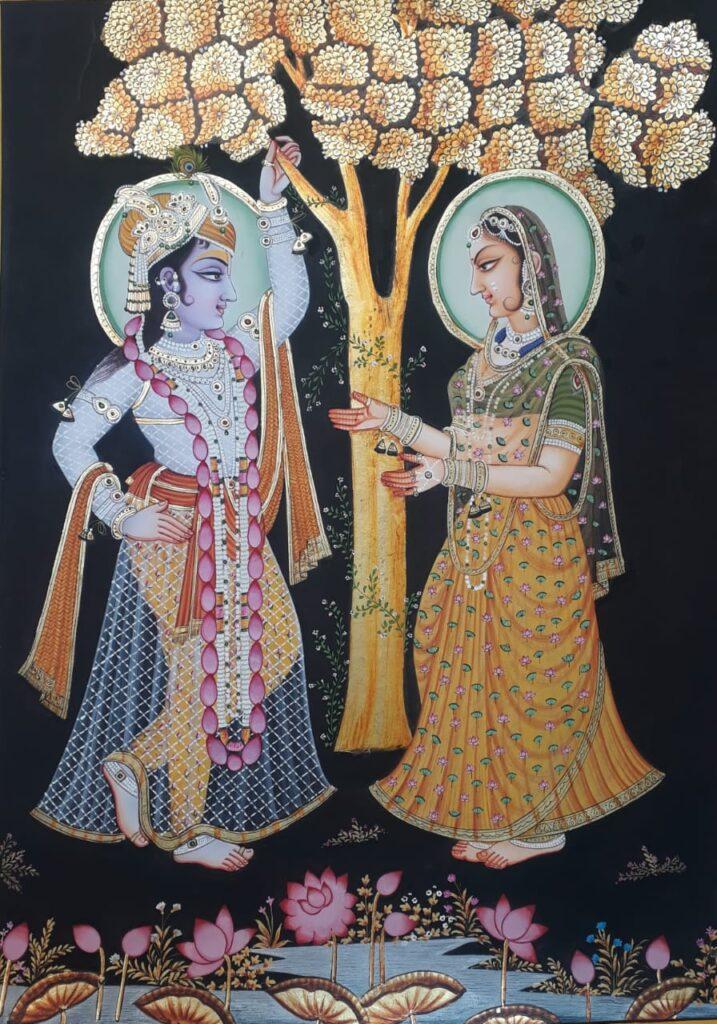 Radha Krishna Pichwai Painting-Jaikishan-Sahu-01