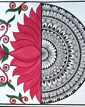 Lotus - mandala art - geetanjali - 56